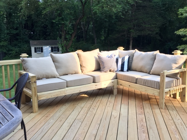 One Arm 2x4 Outdoor Sofa - Sectional Piece | Ana Whi