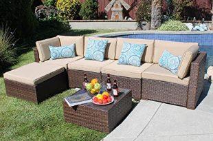 Amazon.com: SUNSITT Outdoor Sectional 6 Piece Patio Furniture Set .