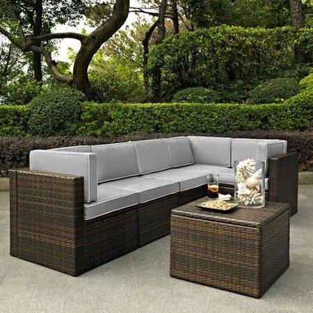 Crosley Furniture KO70007BR-GY Palm Harbor 6-Piece Resin Wicker .