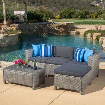 Water resistant - Gray - Outdoor Sectionals - Outdoor Lounge .