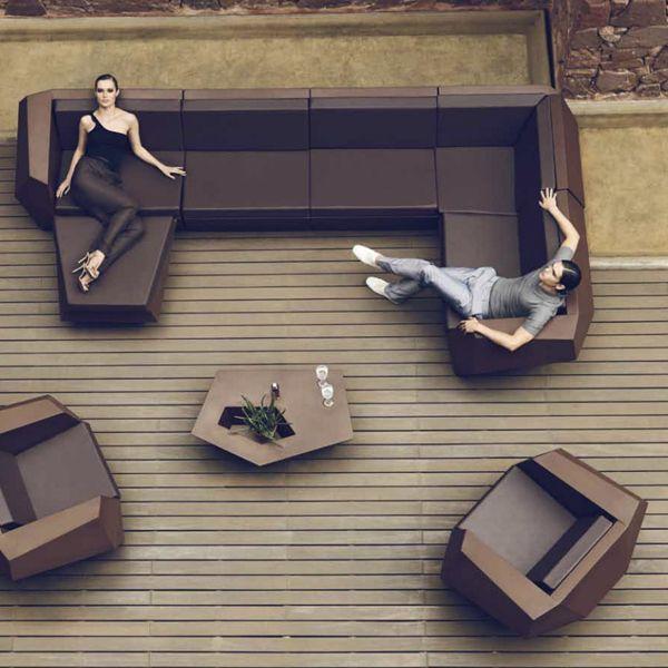 Vondom, Faz, Modern, Outdoor Sectional, sofa, patio, furniture .