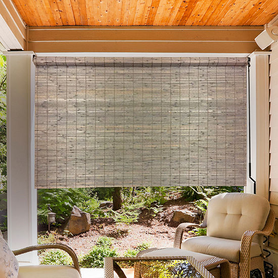 Radiance Bamboo Sun Shade With Crank Outdoor Shades, Color .