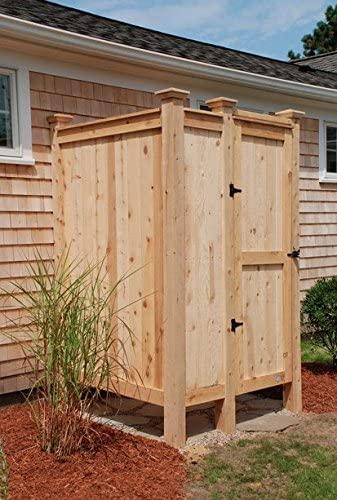 Amazon.com: Outdoor Shower Enclosure Cedar House Mount: Sports .