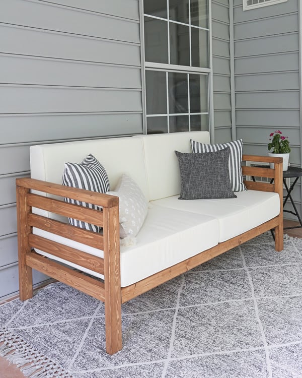 DIY Outdoor Couch - Angela Marie Ma