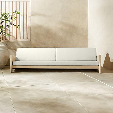 Lunes White Outdoor Sofa + Reviews | C