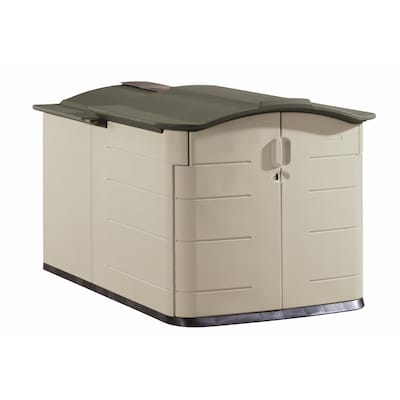 Rubbermaid 60-in x 79-in x 54-in Olive Resin Outdoor Storage Shed .