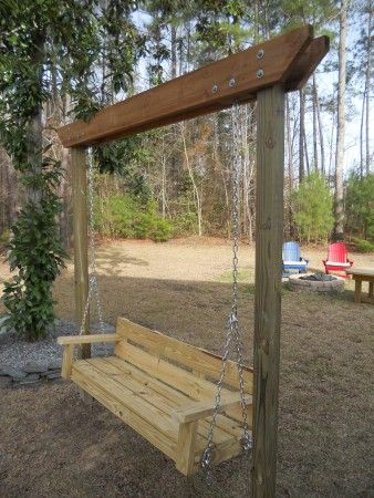 modified bench swing | Do It Yourself Home Projects from Ana White .