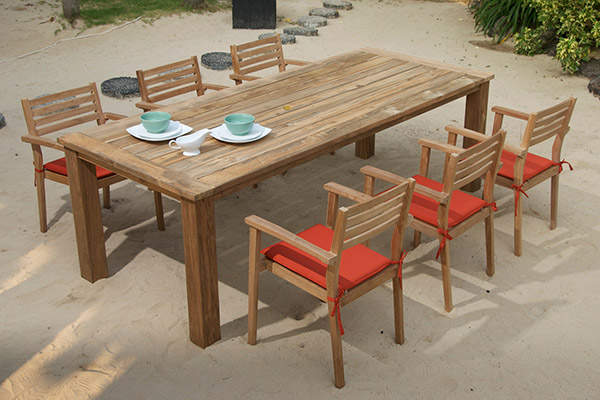 Teak Tables, Dining, Chairs, Chaise Lounges, and Daybeds .