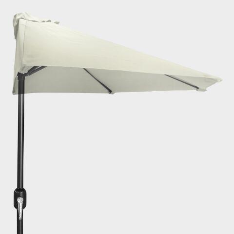 Natural Outdoor Half Umbrella | World Mark