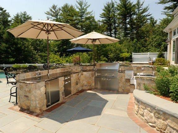 Outdoor Kitchen Umbrellas Outdoor Kitchen ND Landscape, Inc .