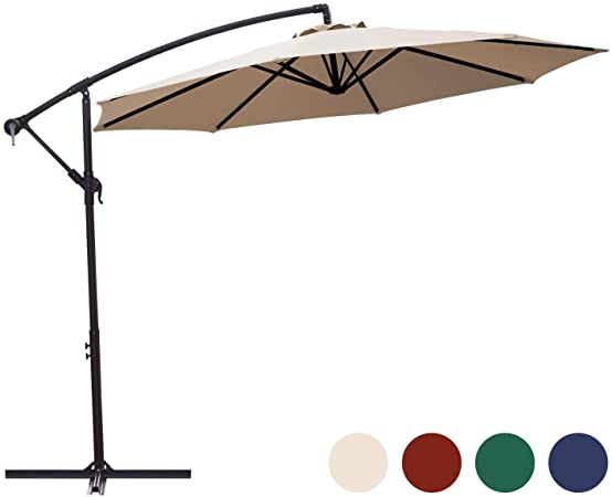 Amazon.com : KINGYES 10ft Patio Offset Cantilever Umbrella Market .