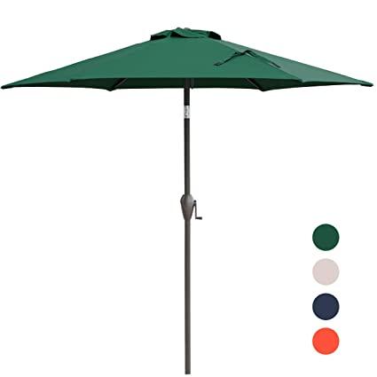 Amazon.com : KINGYES Patio Umbrella, 7.5 ft Outdoor Umbrella with .