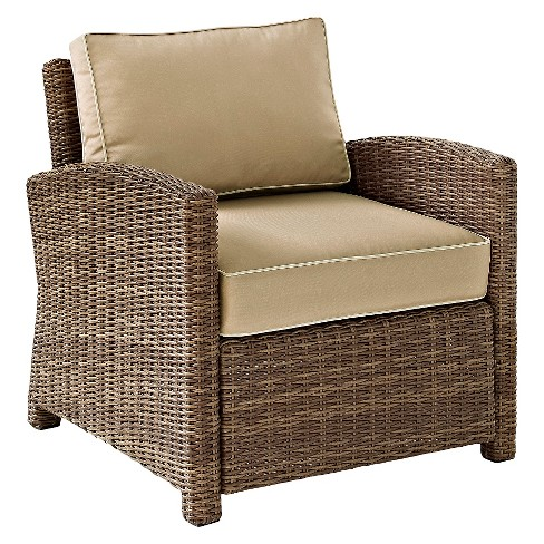 Crosley Bradenton Outdoor Wicker Arm Chair - Sand : Targ