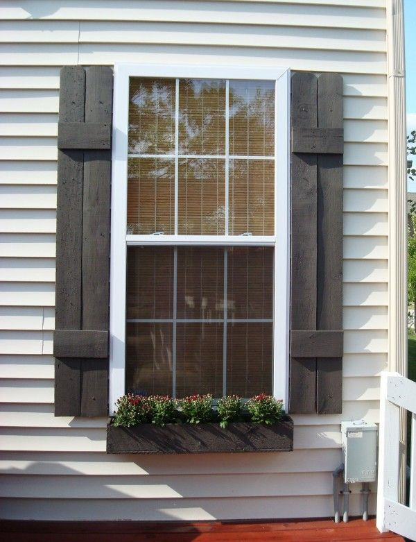 Top 10 Best DIY Window Boxes | House shutters, Diy shutters .