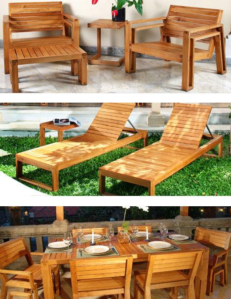 Outdoor Wood Furniture by Maku - the patio teak furnitu