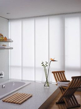 Sliding Panel Vertical Blinds - 30 colors to choose from .