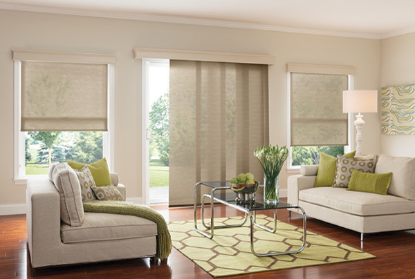 Graber WINDOW PANELS - SLIDING PANEL BLINDS - Modern - Living Room .