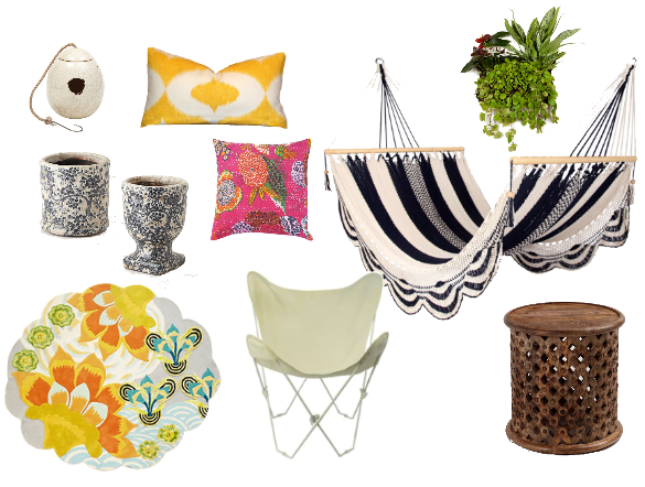 bohemian outdoor patio accessories | Decori