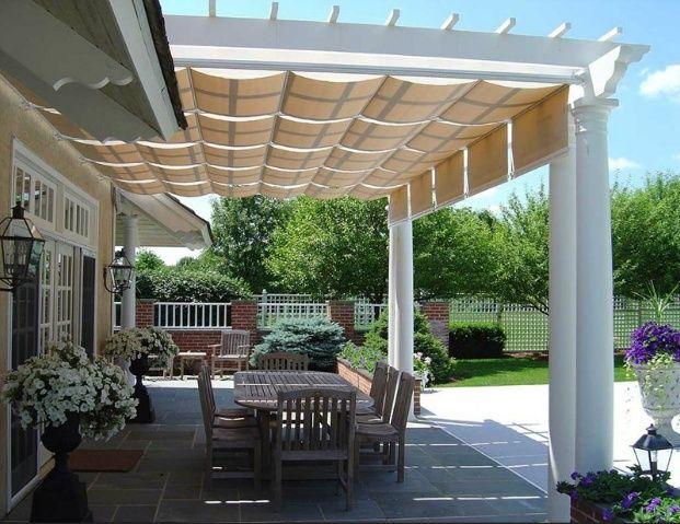 DIY Patio Awning Plans | Outdoor rooms, Pergola patio, Pergo