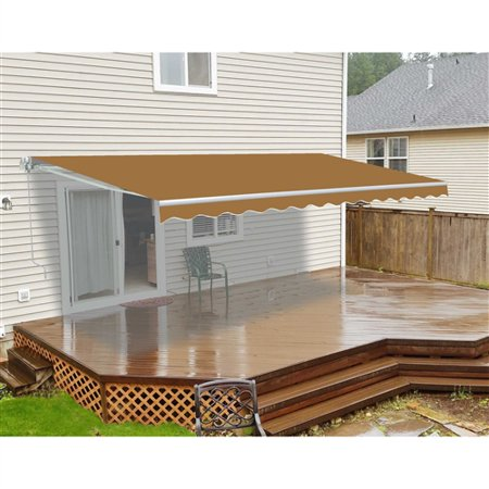 ALEKO 12'x10' Retractable Patio Awning, Multiple Colors - Walmart .