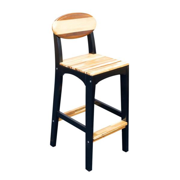 Rio Woody Surf Co. Outdoor Wood Patio Bar Stool WYBS1-1 - The Home .