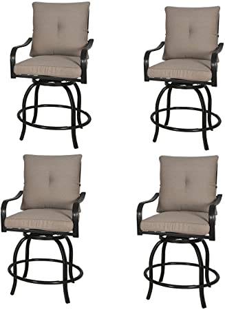 Amazon.com: Rimba Outdoor Swivel Chairs Height Patio Bar Stools .