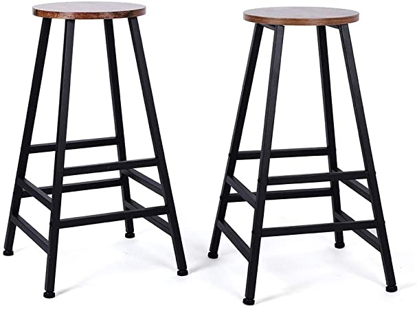 Amazon.com: Wakects 2 Piece Metal Bar Stools, 28 Inch Indoor .