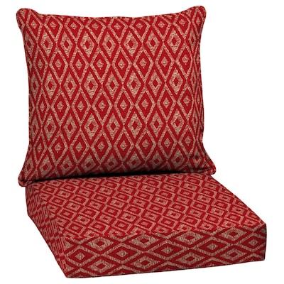 Garden Treasures 2-Piece Red Diam Ruby Deep Seat Patio Chair .