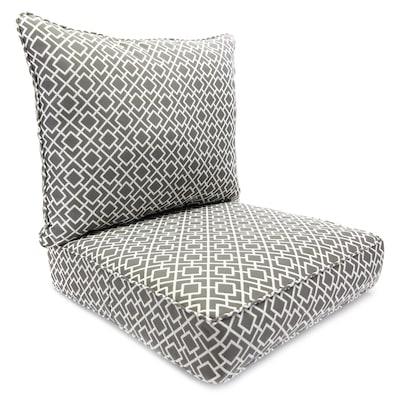 Jordan Manufacturing Outdoor 2pc Deep Seat Chair Cushion 2-Piece .