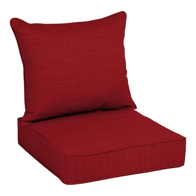Allen + roth 2-Piece Cherry Red Deep Seat Patio Chair Cushion at .