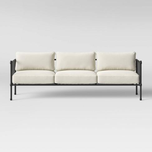 Fernhill Metal Patio Sofa Linen - Threshold™ : Targ