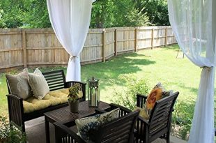 Amazon.com: RYB HOME Outdoor Sheer Curtain for Patio, Grommet .