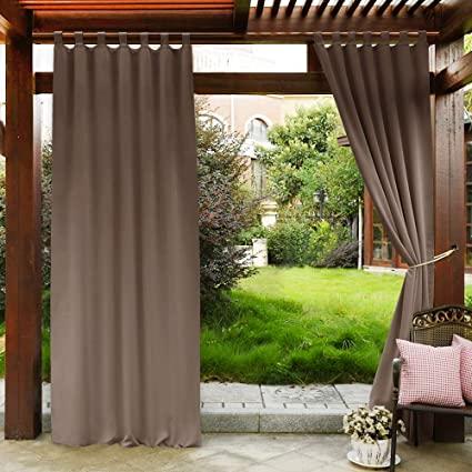 Amazon.com: PONY DANCE Patio Curtains Outdoor - Waterproof Garden .