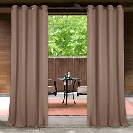 Amazon.com : StangH Outdoor Patio Curtains Water & Wind Repellent .