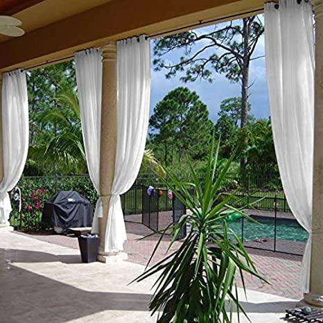 Amazon.com : cololeaf Semi-Sheer Curtains Indoor Outdoor Living .