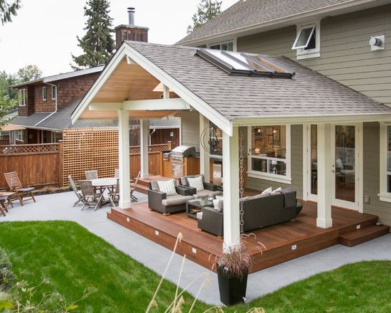 Someday: Traditional Patio Covered Patio Design, Pictures, Remodel .