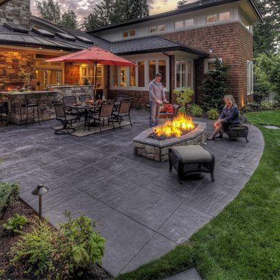 Patio stamped concrete patio Design Ideas, Pictures, Remodel and .
