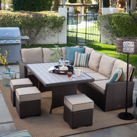 Belham Living Monticello All-Weather Wicker Sofa Sectional Patio .