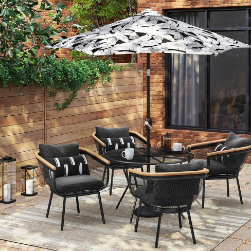 Bangor 5pc Round Patio Dining Set - Black - Project 62™ : Targ