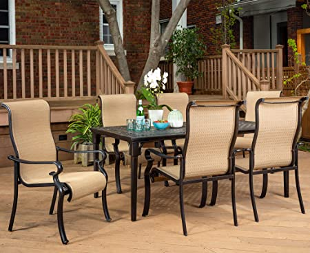 Amazon.com: Brigantine 7-Piece Rust-Free Aluminum Outdoor Patio .