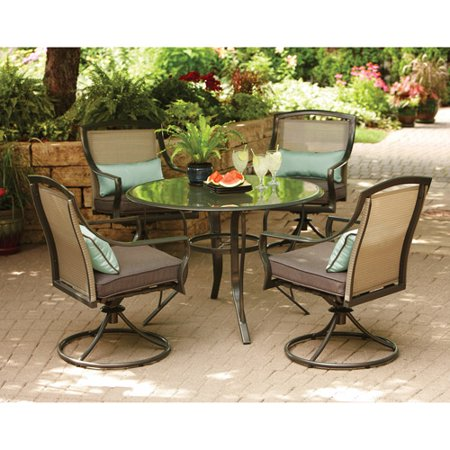 Aqua Glass 5-Piece Patio Dining Set, Seats 4 - Walmart.com .