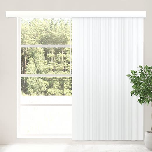 Amazon.com: CHICOLOGY Cordless Vertical Blinds Patio Door or Large .