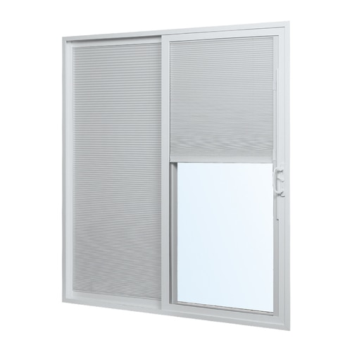 ReliaBilt Blinds Between The Glass White Vinyl Right-hand Double .