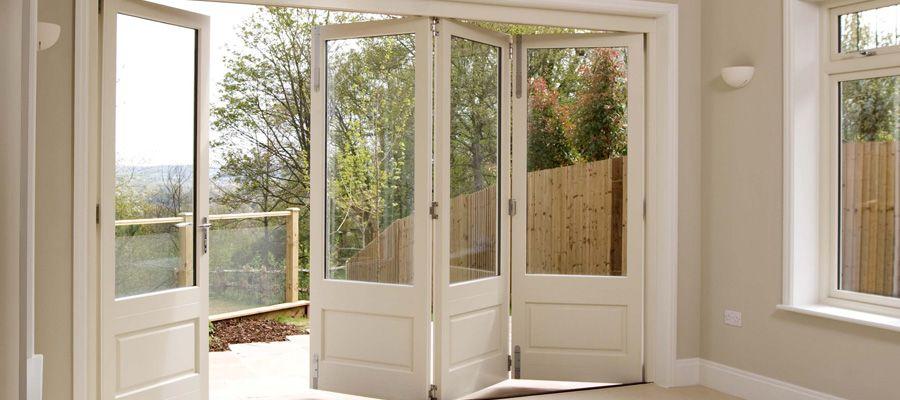Wooden Patio Doors | Bifold french doors, Bifold patio doors .