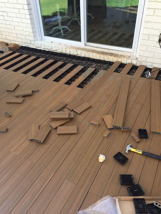 9 DIY Cool & Creative Patio Flooring Ideas | Concrete slab patio .
