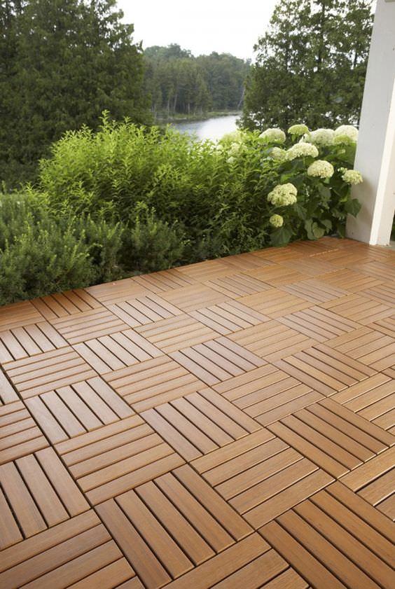 9 DIY Cool & Creative Patio Flooring Ideas | The Garden Glo