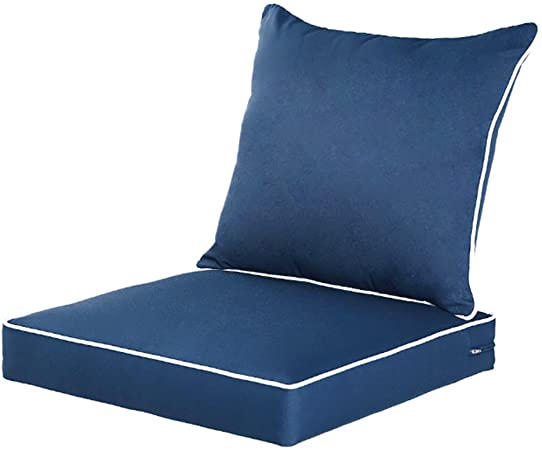 Amazon.com : QILLOWAY Outdoor/Indoor Deep Seat Chair Cushions Set .