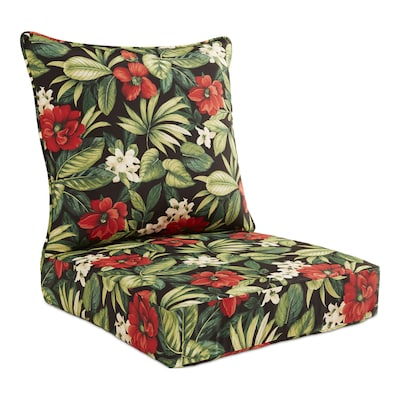 Garden Treasures 2-Piece Sanibel Black Tropical Deep Seat Patio .