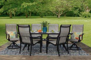Laurel 7-Piece Aluminum Sling Patio Furniture Dining S