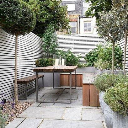 Garden patio and decking ideas | Small courtyard gardens, Garden .